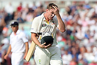 James Faulkner of Australia walks off after losing his wicket - England vs Australia - 5th day of the 5th Investec Ashes Test match at The Kia Oval, London - 25/08/13 - MANDATORY CREDIT: Rob Newell/TGSPHOTO - Self billing applies where appropriate - 0845 094 6026 - contact@tgsphoto.co.uk - NO UNPAID USE