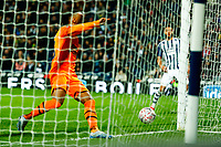 3rd March 2020; The Hawthorns, West Bromwich, West Midlands, England; English FA Cup Football, West Bromwich Albion versus Newcastle United; Valentino Lazaro taps in for Newcastle United's third goal after 47 minutes (0-3)
