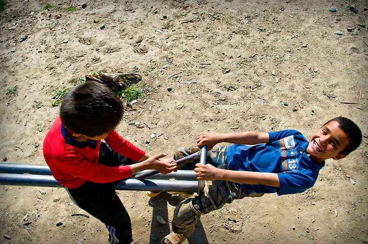 Kids playing in Kabul.