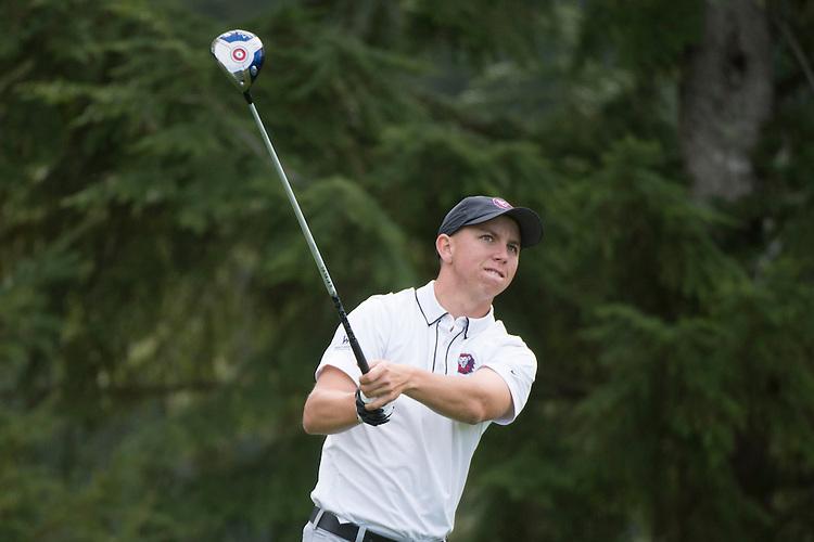 April 14, 2014; Bremerton, WA, USA; Loyola Marymount Lions golfer Chase Nicolai during the WCC Golf Championships at Gold Mountain Golf Club.