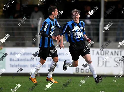 2009-11-08 / Voetbal / seizoen 2009-2010 / Rupel-Boom - Ternat / Kenny Laevaert scoorde de geruststellende 3-1 voor Rupel-Boom..foto: mpics