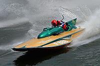 """Chris Cox, F-888 """"Jade Dragon"""", (1965 5 Litre class Lauterbach hydroplane)"""