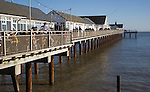 The pier on a sunny winter day at Southwold, Suffolk, England