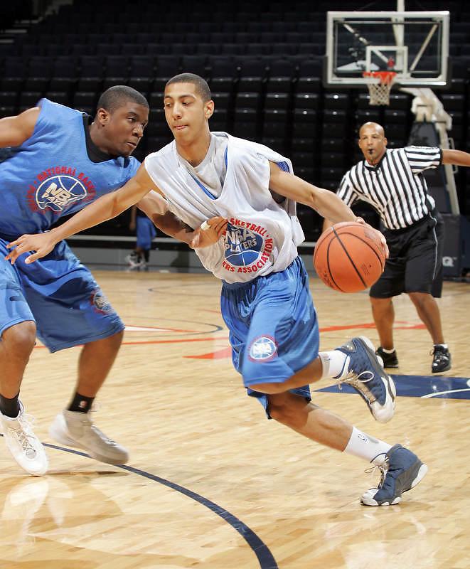 WF Anthony Jones (Houston, TX / Jack Yates) shoots the ball during the NBA Top 100 Camp held Saturday June 23, 2007 at the John Paul Jones arena in Charlottesville, Va. (Photo/Andrew Shurtleff)
