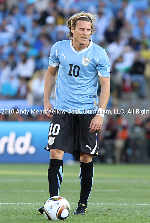 22 JUN 2010:  Diego Forlan (URU)(10).  The Mexico National Team went dow to the Uruguay National Team 0-1 in the first half at Royal Bafokeng Stadium in Rustenburg, South Africa in a 2010 FIFA World Cup Group A match.