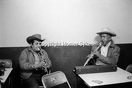 Mazatlan, Mexico, local musicians in bar. 1973. Mexican
