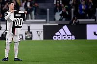 Cristiano Ronaldo of Juventus shows the shirt celebrating his 700th goal <br /> Torino 19/10/2019 Allianz Stadium <br /> Football Serie A 2019/2020 <br /> Juventus FC - Bologna <br /> Photo Federico Tardito / Insidefoto