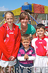 AMUSEMENT PARK: Having fun at the Caherciveen Music Festival on Sunday were, l-r: Ciara OSullivan, Catriona OShea, Evan OShea and Jamie Donnelly from Waterville..