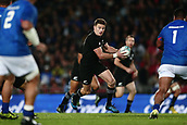 16th June 2017, Eden Park, Auckland, New Zealand; International Rugby Pasifika Challenge; New Zealand versus Samoa;  Beauden Barrett of New Zealand runs the ball