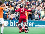 BLOEMENDAAL   - Hockey -  3e en beslissende  wedstrijd halve finale Play Offs heren. Bloemendaal-Amsterdam (0-3).  keeper Jan de Wijkerslooth (A'dam)  Amsterdam plaats zich voor de finale.  COPYRIGHT KOEN SUYK