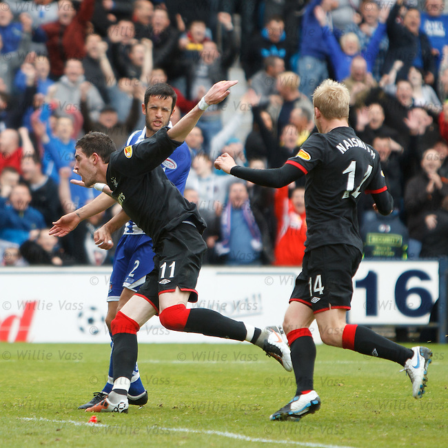 Kyle Lafferty celebrates goal no 5 for Rangers