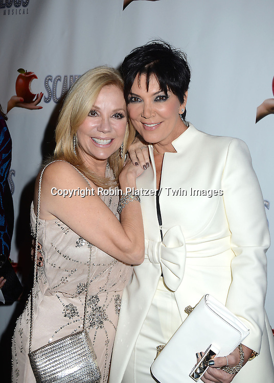 """Kathie Lee Gifford and Kris Jenner attend the """"Scandalous"""" Broadway Opening on November 15, 2012 at The Neil Simon Theatre in New York City. Kathie Lee Gifford wrote the book and the lyrics."""
