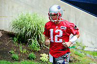 June 7, 2017: New England Patriots quarterback Tom Brady (12) walks to practice at the New England Patriots mini camp held on the practice field at Gillette Stadium, in Foxborough, Massachusetts. Eric Canha/CSM