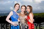 Enjoying a great time at the Milltown Presentation Debs at Ballyroe Heights Hotel on Tuesday were  l-r Sarah Jennings, Sarah Sayers and Martina Carey.