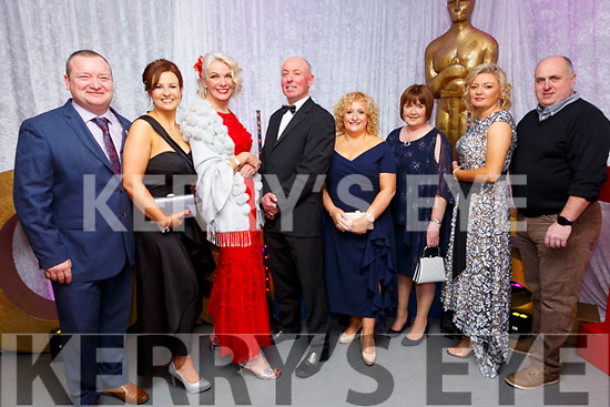 """Oskars: Members of the cast of """"Man About Dog """" film at the Listowel Celtic fund raiser at the Listowel Community Centre on Saturday night last. L- R: Joby Cosstello, Jenny Keane, Maggie Large, Sean Carey, Jacinta Kennedy, Eileen Sheehy, Cora O'Brien & Gordon Flannery."""