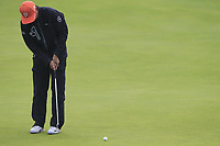 Rickie Fowler (USA) putts on the 8th green during Sunday's Final Round of the 148th Open Championship, Royal Portrush Golf Club, Portrush, County Antrim, Northern Ireland. 21/07/2019.<br /> Picture Eoin Clarke / Golffile.ie<br /> <br /> All photo usage must carry mandatory copyright credit (© Golffile | Eoin Clarke)