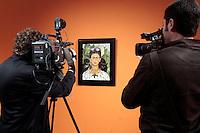 Autoritratto con collana di spine e colibrì' <br /> Roma 18-03-2014 Scuderie del Quirinale. Inaugurazione vernissage della mostra dedicata a Frida Kahlo.<br /> Opening of the exhibition of Frida Kahlo.<br /> Photo Samantha Zucchi Insidefoto
