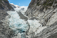 Retreating Franz Josef Glacier, Westland National Park, West Coast, World Heritage, South Island, New Zealand