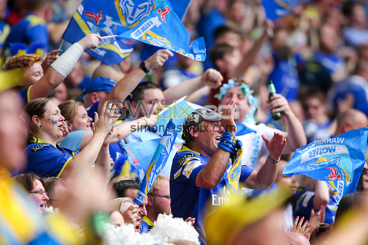 Picture by Alex Whitehead/SWpix.com - 27/08/2016 - Rugby League - Ladbrokes Challenge Cup Final - Hull FC v Warrington Wolves - Wembley Stadium, London, England - Warrington's fans, supporters.