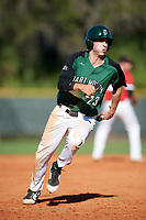 Dartmouth Big Green center fielder Matt Feinstein (23) running the bases during a game against the Northeastern Huskies on March 3, 2018 at North Charlotte Regional Park in Port Charlotte, Florida.  Northeastern defeated Dartmouth 10-8.  (Mike Janes/Four Seam Images)