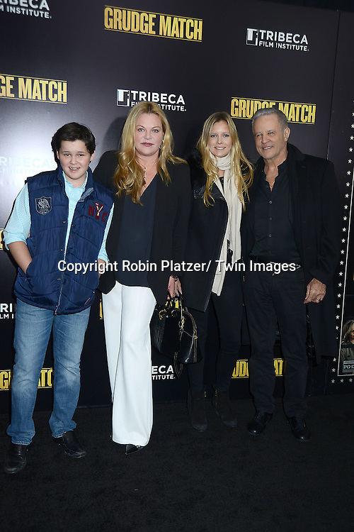 """Katharina Otto-Bernstein and family  attend the World Premiere of """"Grudge Match"""" at the Ziegfeld Theatre in New Yok City on December 16, 2013."""