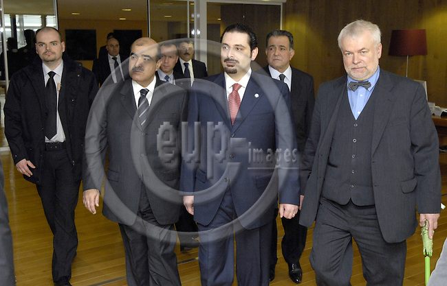 Brussels-Belgium - 28 February 2007---Saad HARIRI (ce), leader of the parliamentary majority in Lebanon, visits the European Commission; here, with Ex-MEP Frank SCHWALBA-HOTH (ri)---Photo: Horst Wagner/eup-images
