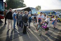 Zdenek Stybar (CZE/OmegaPharma-Quickstep) to the start<br /> <br /> stage 1<br /> Euro Metropole Tour 2014 (former Franco-Belge)