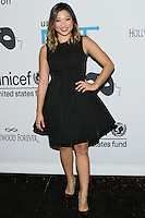 HOLLYWOOD, LOS ANGELES, CA, USA - OCTOBER 30: Jenna Ushkowitz arrives at UNICEF's Next Generation's 2nd Annual UNICEF Masquerade Ball held at the Masonic Lodge at the Hollywood Forever Cemetery on October 30, 2014 in Hollywood, Los Angeles, California, United States. (Photo by Rudy Torres/Celebrity Monitor)