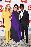 LONDON, UK. September 10, 2018: Fiona Button, Annabel Scholey & Rudi Darmalingham at the TV Choice Awards 2018 at the Dorchester Hotel, London.<br /> Picture: Steve Vas/Featureflash