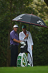 AUGUSTA, GA - APRIL 12: Phil Mickelson prepares to tee off during the Second Round of the 2013 Masters Golf Tournament at Augusta National Golf Club on April 10in Augusta, Georgia. (Photo by Donald Miralle) *** Local Caption ***