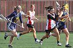 Santa Barbara, CA 02/19/11 - Sophia Zug (UC Berkeley #32), Katie Weisenberger (UC Berkeley #22) and Casey Franklin (San Diego State #4) in action during the San Diego State - Cal Berkeley game at the 2011 Santa Barbara Shootout.