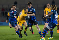 8th November 2019; AJ Bell Stadium, Salford, Lancashire, England; English Premiership Rugby, Sale Sharks versus Coventry Wasps; Jimmy Gopperth of Wasps is tackled by Ben Curry - Editorial Use