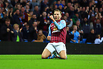 Andreas Weimann of Aston Villa celebrates scoring the opening goal - Aston Villa vs. Tottenham Hotspurs - Barclay's Premier League - Villa Park - Birmingham - 02/11/2014 Pic Philip Oldham/Sportimage