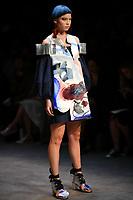 7 September 2017, Melbourne - Model parades design by student Lauren Skender during the Melbourne Fashion Week in Melbourne, Australia. (Photo Sydney Low / asteriskimages.com)