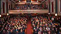 Dunfermline fans pack into the Carnegie Hall, Dunfermline, to listen to Jim Leishman.