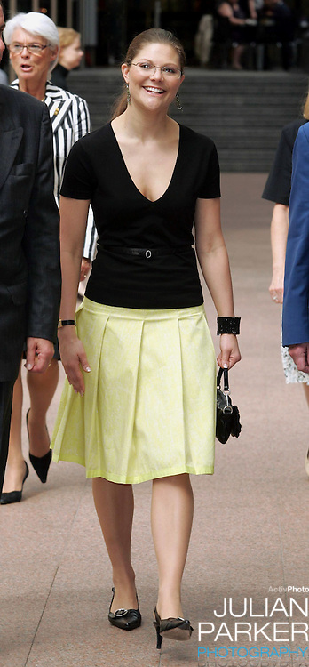 Crown Princess Victoria of Sweden visits Australia..Attending a Sustainable Cities Seminar in Melbourne..