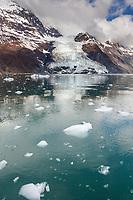 Cascade glacier descends out of the Chugach mountains into Barry Arm, Prince William Sound, southcentral, Alaska.