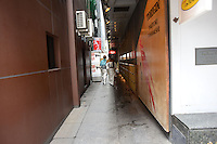 JAPANAESE HOSTESS IN KIMONO WALKING IN THE ALLEY WAY ON THE WAY TO WORK IN GINZA, TOKYO