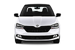 Car photography straight front view of a 2019 Skoda Fabia Monte Carlo 5 Door Hatchback