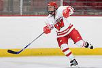 MADISON, WI - SEPTEMBER 29: Meghan Duggan #7 of the Wisconsin Badgers women's hockey team skates during warmups prior to the game against the Quinnipiac Bobcats at the Kohl Center on September 29, 2006 in Madison, Wisconsin. The Badgers beat the Bobcats 3-0. (Photo by David Stluka)