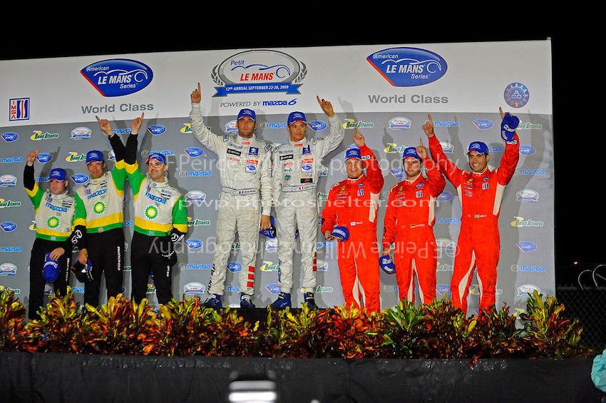 Class winners on the podium.