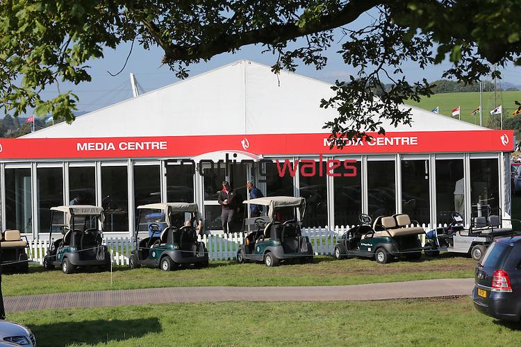 ISPS Handa Wales Open<br /> Media Centre<br /> Celtic Manor Resort<br /> 21.09.14<br /> ©Steve Pope-SPORTINGWALES