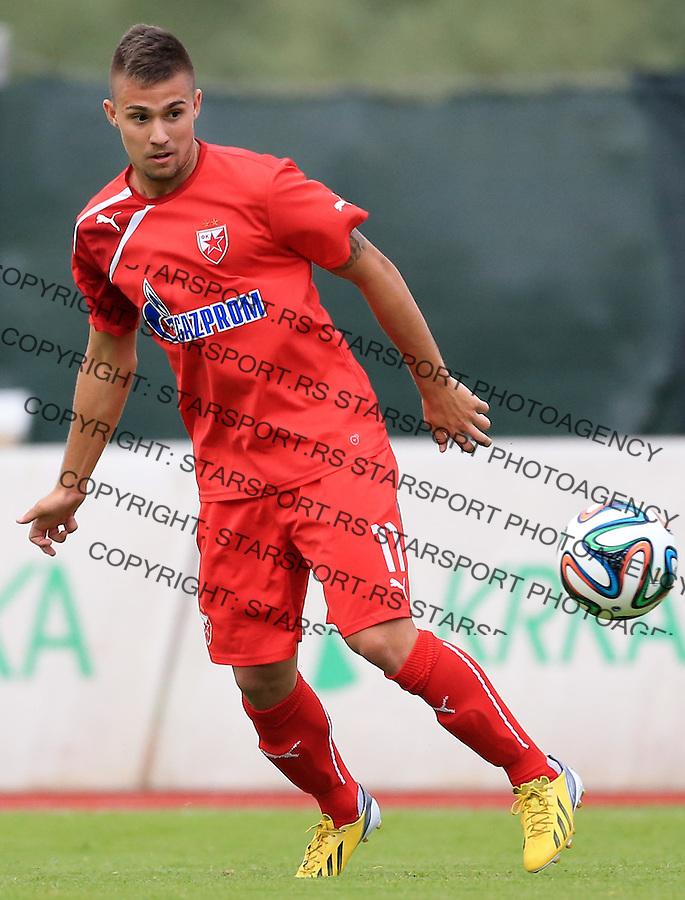Fudbal season 2013-2014<br /> FK Crvena Zvezda pripreme<br /> Crvena Zvezda v Krka<br /> Nikola Karaklajic <br /> Novo Mesto, 07.12.2014.<br /> foto: Srdjan Stevanovic/Starsportphoto &copy;