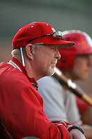 March 7 2010: Ray Birmingham, head coach of University of New Mexico, during game against USC at Dedeaux Field in Los Angeles,CA.  Photo by Larry Goren/Four Seam Images
