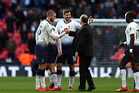 Fernando Llorente of Tottenham Hotspur and Newcastle United manager Rafa Benítez after Tottenham Hotspur vs Newcastle United, Premier League Football at Wembley Stadium on 2nd February 2019