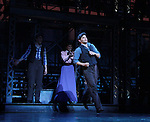 Kara Lindsay and Jeremy Jordan at Curtain Call - The Newsies at The Paper Mill Playhouse on October 2, 2010 in Millburn, New Jersey with current cast members and cast members of the film. It was a day of events to all devoted fans of Newsies - Radio Disney at 4 pm, executive reception for members of the original cast of Newsies (the movie) followed by a talkback, Q&A in the theater - all this followed by the evening performance of Newsies with the Curtain Call, old cast meets new cast and a cast photo of all. (Photo by Sue Coflin/Max Photos)