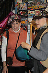 Days of Our Lives' Louise Sorel and friend stop by Jane Elissa' Hats for Health (promoting awareness and to raise money for Leukemia/Lymphoma cancer research and patient aid) booth at the Grand Central's Vanderbilt Hall Holiday Fair on December 24, 2010 in New York City, New York. There are 76 vendors with the fair running from Thanksgiving to Dec. 24. (Photo by Sue Coflin/Max Photos)