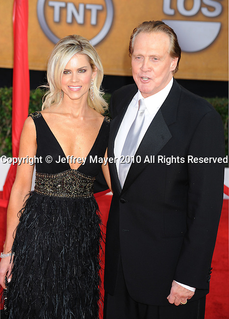 LOS ANGELES, CA. - January 23: Lee Majors and wife Faith arrive at the 16th Annual Screen Actors Guild Awards held at The Shrine Auditorium on January 23, 2010 in Los Angeles, California.