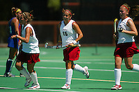 30 August 2005: Bailey Richardson with Aska Sturdevan during Stanford's 5-1 loss to Delaware at the Varsity Turf Field in Stanford, CA.