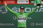Sam Bennett (IRL) Bora-Hansgrohe retains the points Green Jersey at the end of Stage 6 of La Vuelta 2019 running 198.9km from Mora de Rubielos to Ares del Maestrat, Spain. 29th August 2019.<br /> Picture: Colin Flockton | Cyclefile<br /> <br /> All photos usage must carry mandatory copyright credit (© Cyclefile | Colin Flockton)